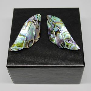 ✨VTG✨ 80s Mother of Pearl Wing Post Earrings